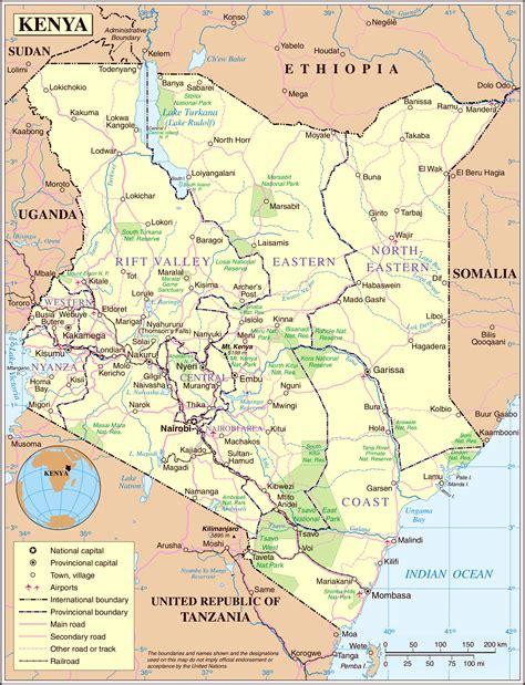 printable map kenya large detailed political and road map of kenya kenya
