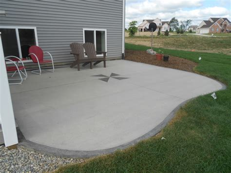 Poured Concrete Patio by Looking Poured Concrete Patio Design Ideas Patio