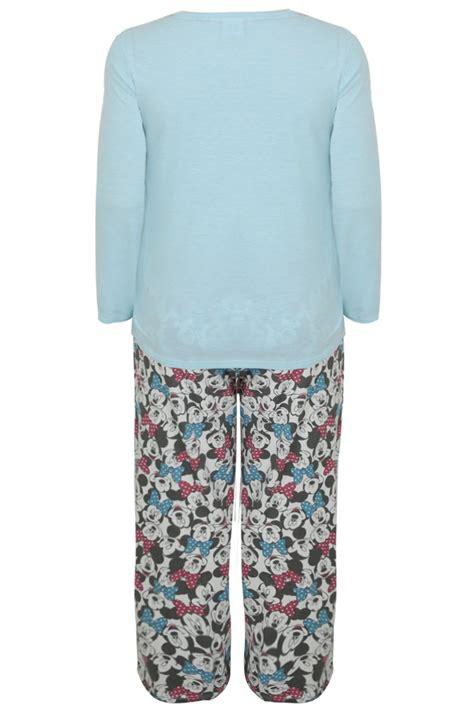 Pjms164 67 Top Pajamas Minnie turquoise mickey minnie mouse selfie disney pyjama set plus size 14 16 18 20 22 24 26 28 30 32 3