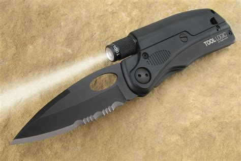 Second Hand Kitchen Furniture by Tool Logic Tactical Folding Knife With Flashlight Fire