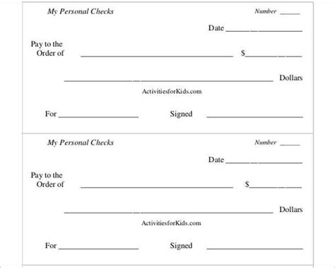 24 Free Bank Check Templates Free Premium Templates Printable Blank Check Template