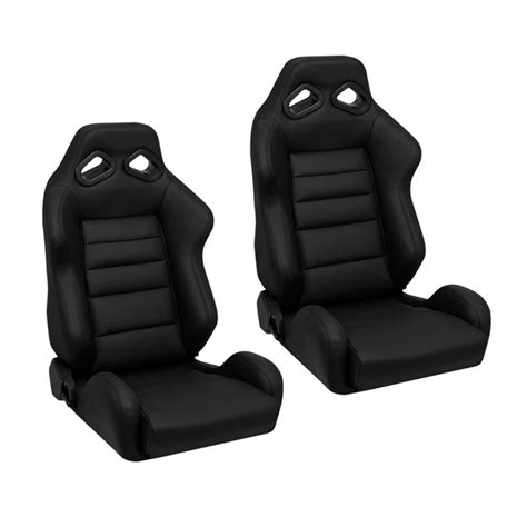 leather racing seats corbeau trs racing seat black leather l20801