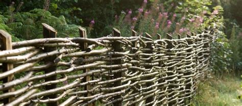 hardscaping  woven fences gardenista
