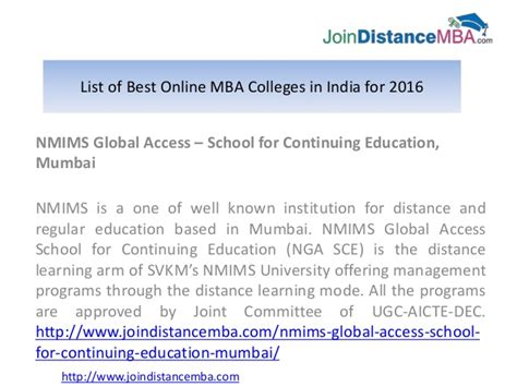 Best For Mba Distance Education In World by List Of Best Mba Colleges In India For 2016