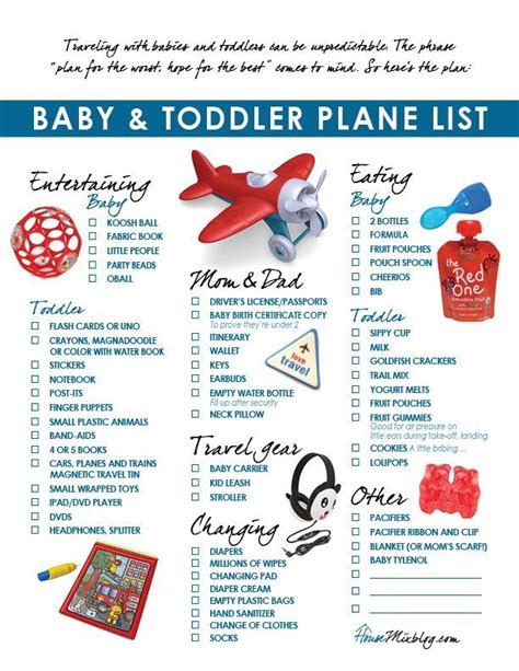 printable toddler packing list free printable plane pack list and travel ideas for