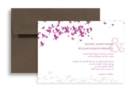 design your own butterfly wedding invitation exle 7x5