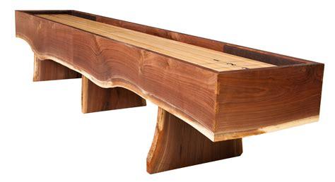 best wood for shuffleboard table heirloom big sky shuffleboard table live edge walnut