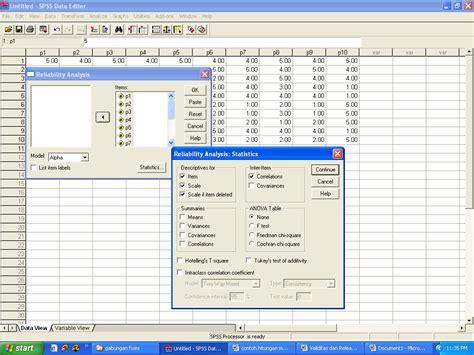 tutorial uji validitas spss contoh uji validitas dan reliabilitas dengan program spss
