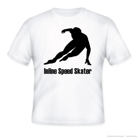 T Shirt Skaters 7 inline speed skater t shirt