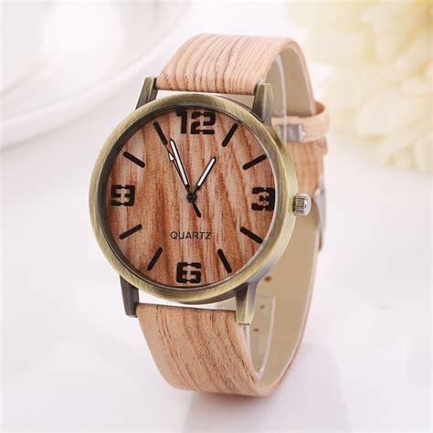 2016 sale vintage wood grain watches fashion