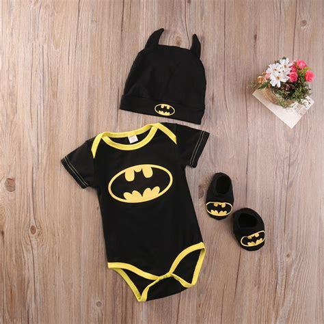 Romper Batman 1 Set 2017 fashion newborn baby boy clothes batman cotton romper shoes hat 3pcs set bebes