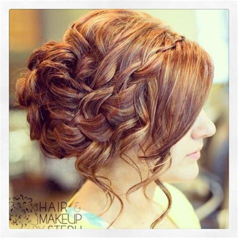 updos braids curls curly waterfall braid updo someday pinterest updo