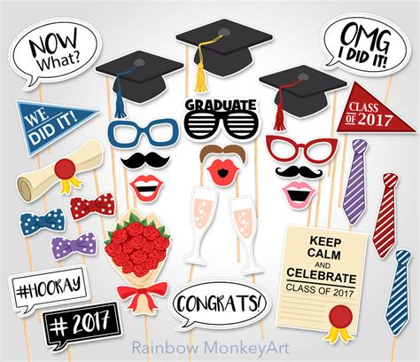graduation photo booth props printable pdf printable graduation photo booth props graduation photobooth
