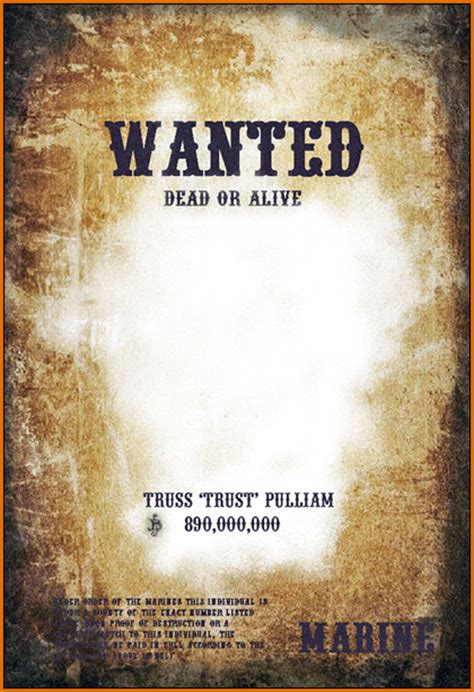 wanted posters template 6 wanted posters template authorizationletters org