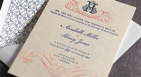 monogram wedding invitation set wedding invitations mika78