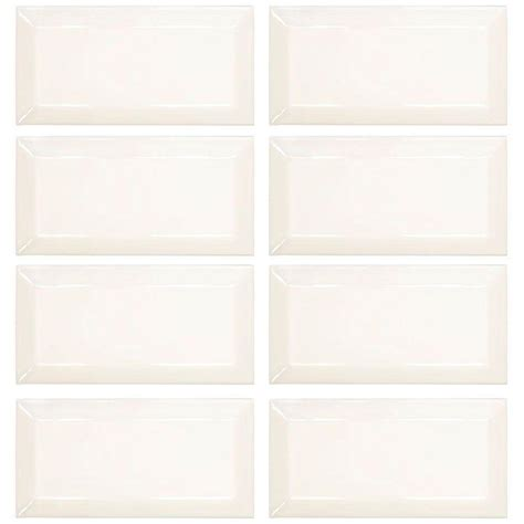 jeffrey court royal cream beveled 3 in x 6 in ceramic