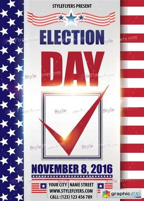 election day v2 psd flyer template 187 free download vector