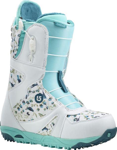 burton emerald s snowboard boots uk 5 white teal 2015