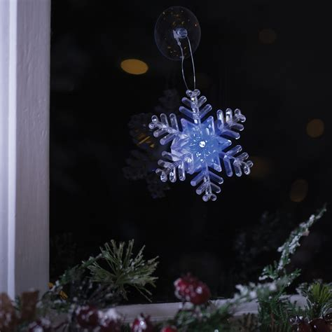 led snowflake window light
