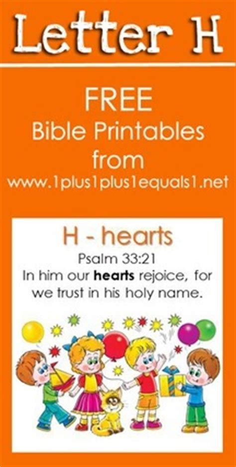 Letter Using Bible Verses Bible Verse Printables Letter H 1 1 1 1