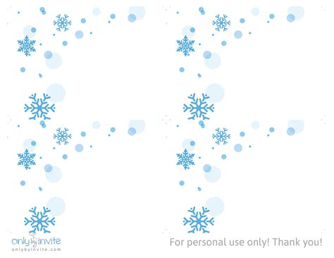 Free Printables For Happy Occasions Free Winter Wedding Invitation Template Snowflake Stationery Template