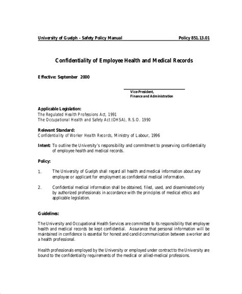 patient confidentiality agreement template 10 confidentiality agreement templates free