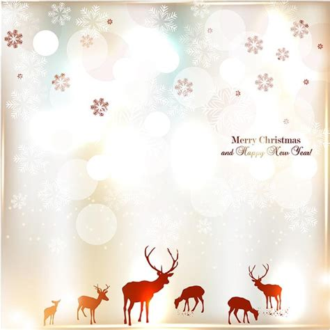 free vector vintage elegant merry christmas invitation
