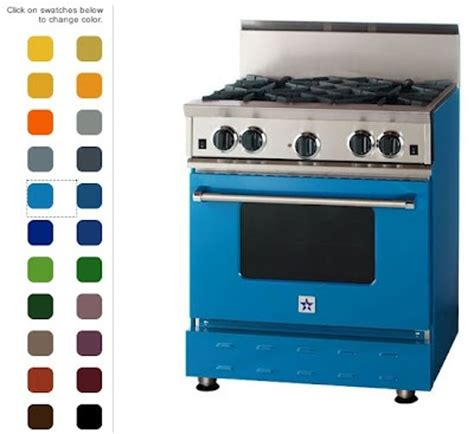 colored stoves colored gas range gas range
