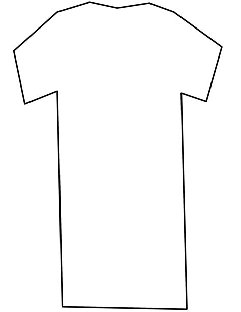 20 free t shirt patterns you can print sew at home it t shirt template printable clipart best