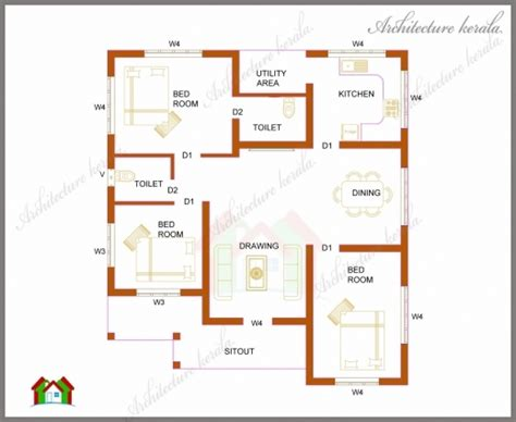 house designs floor plans 3 bedrooms best three bedrooms in 1200 square feet kerala house plan