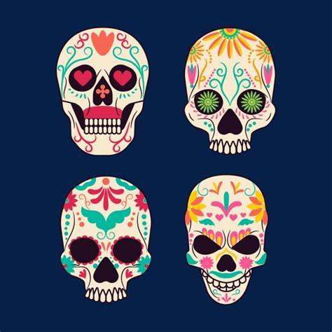 Dise 241 O De Calavera Mexicana Descargar Vectores Gratis | coloridas calaveritas cultura mexicana kit de vinilo