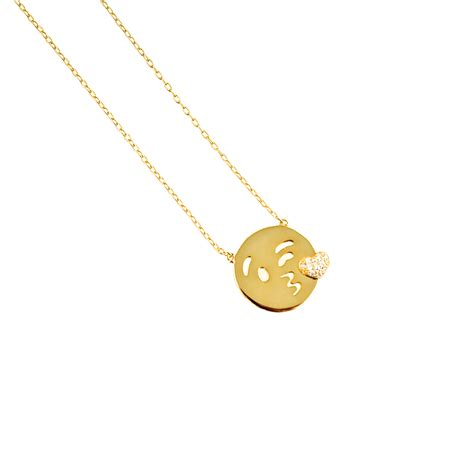 emoji jewelry emoji kiss necklace