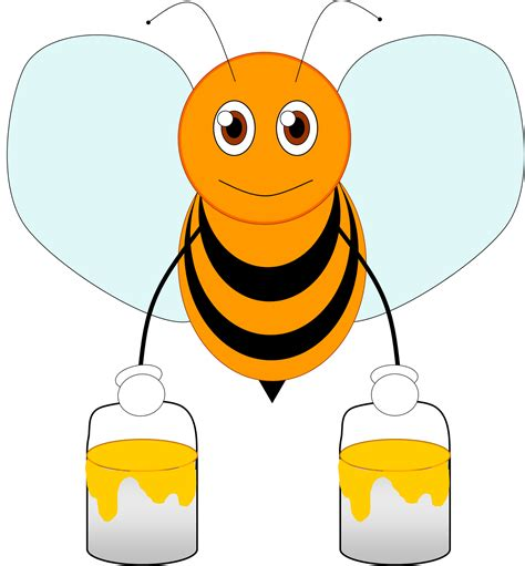 bee clipart bee 2 free images at clker vector clip