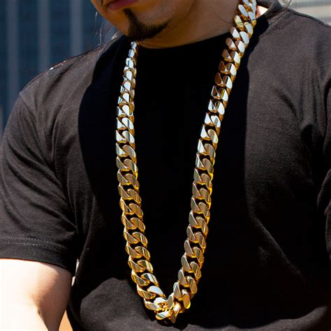 Handmade Cuban Link Chain - 1 5 kilo miami cuban link chain 14k solid gold necklace