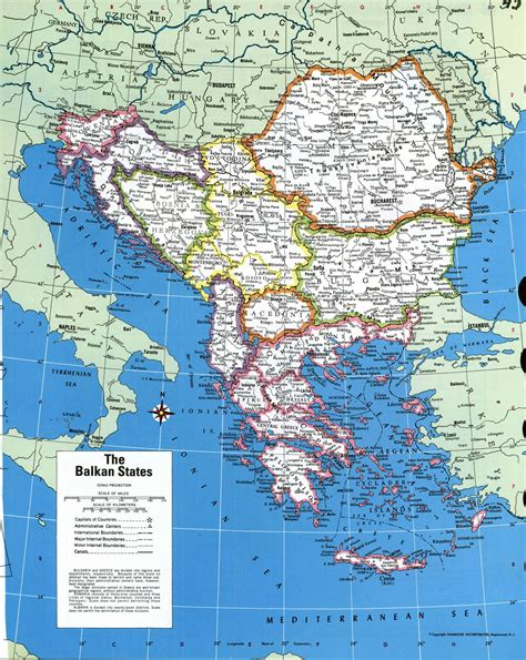 balkan states map large detailed political map of the balkan states