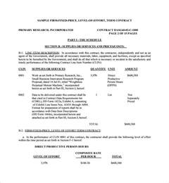 Labor Agreement Template sample price proposal template 10 free documents in pdf