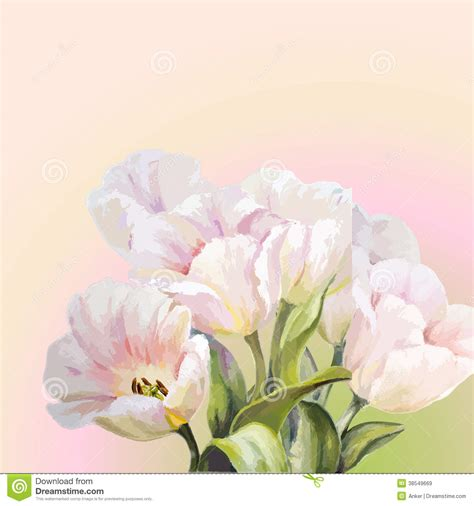 tulip template card tulips flowers invitation template card royalty