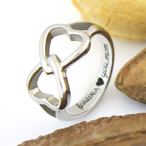 mothers infinity ring tzaro jewelry mothers ring hearts infinity ring