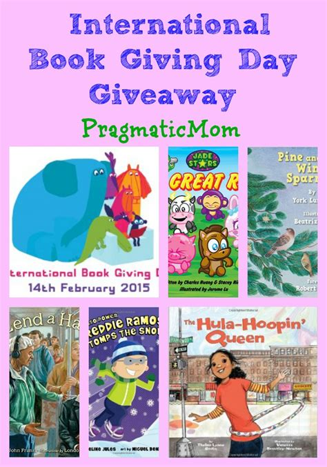 International Book Giveaway - happy international book giving day giveabook giveawaypragmaticmom pragmaticmom