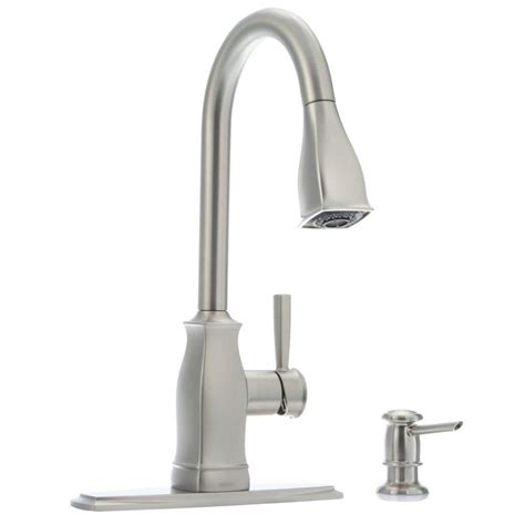 Faucet Size by Moen Chateau Single Handle Standard Kitchen Faucet With