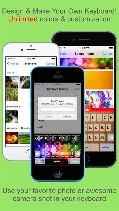 keyboard themes with custom fonts keyboard themes make your own keyboard with photos