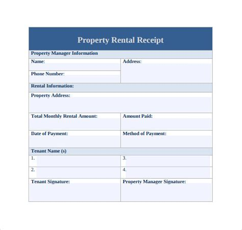 home rent receipt template 21 rent receipt templates sle templates