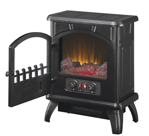 duraflame electric fireplace heater duraflame electric stove in black dfs 500 0