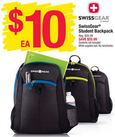 Office Depot Backpack Coupons Swissgear Student Backpacks Only 10 At Office Depot