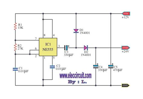 voltage doubler integrated circuit przetwornica dc z 5v na 9 5v na ne555 elektroda pl