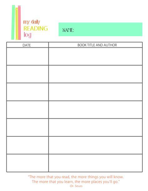 printable calendar reading logs printable reading log for elementary kids