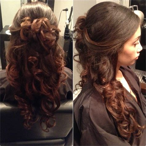 prom hairstyles curly hair down half up half down curly hairstyles hairstyle ideas magazine