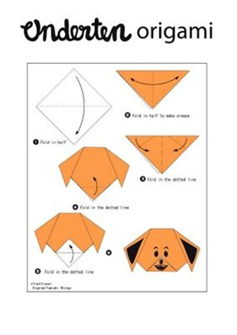 printable origami dog instructions dog origami instructions origami and cool crafts pinterest