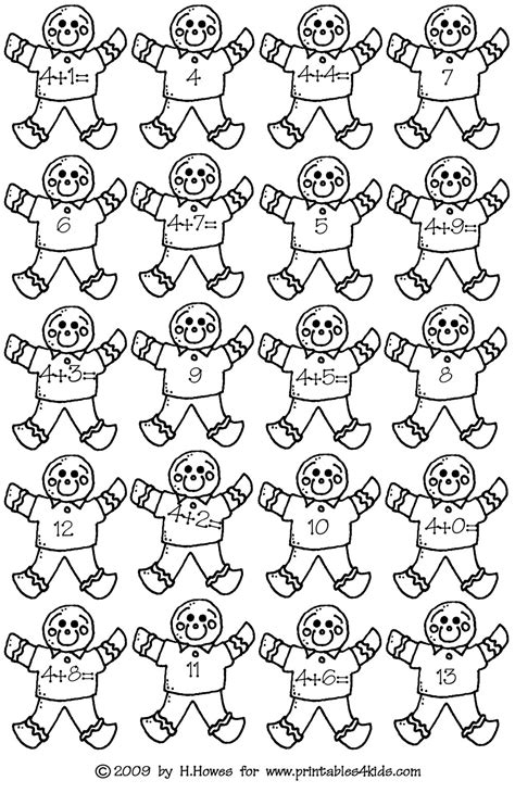 free addition facts coloring pages