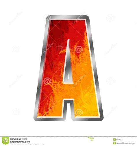flames alphabet letter  stock illustration image